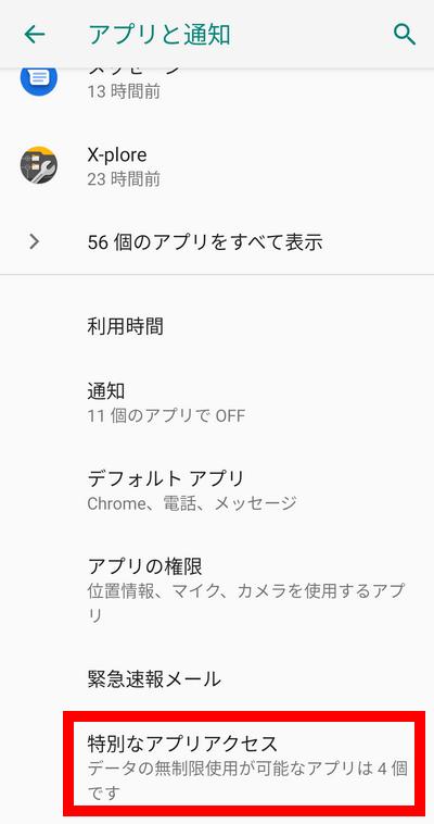 Android アプリと通知