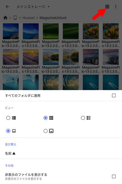 Cx File Explorer ビュー設定