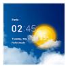 透明時計&天気